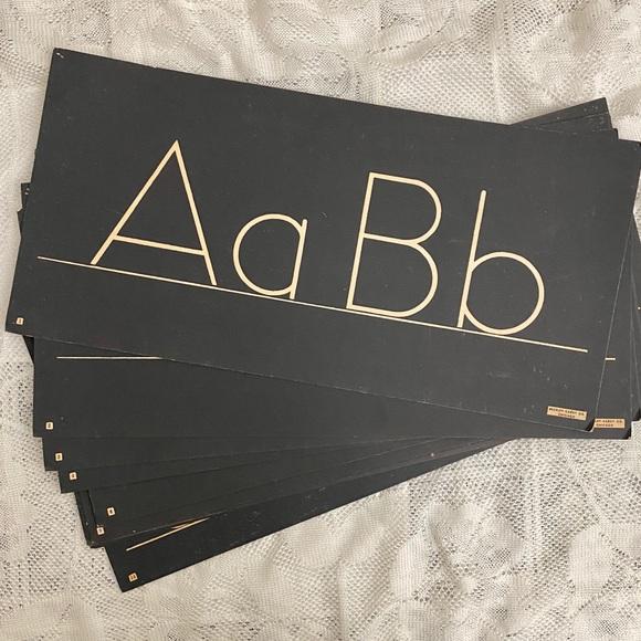 Vintage classroom alphabet, Buckley-Cardy Co